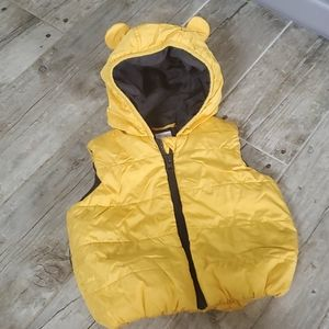 Gymboree yellow puffer vest